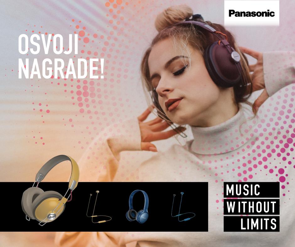 Osvoji Panasonicove slušalice HTX80, HTX20, HF410 ili NJ310!